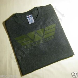 SMALL T-SHIRT - WEYLAND CORP - OLIVE DRAB on DARK HEATHER