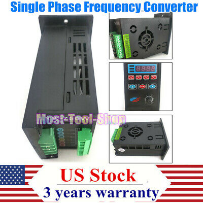 Ac220v Single Phase To 3 Phase Frequency Drive Inverter Converter 1hp 0.75kw