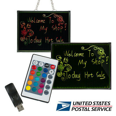 32x24 Flashing Illuminated Erasable Neon Led Message Menu Sign Writing Board Us