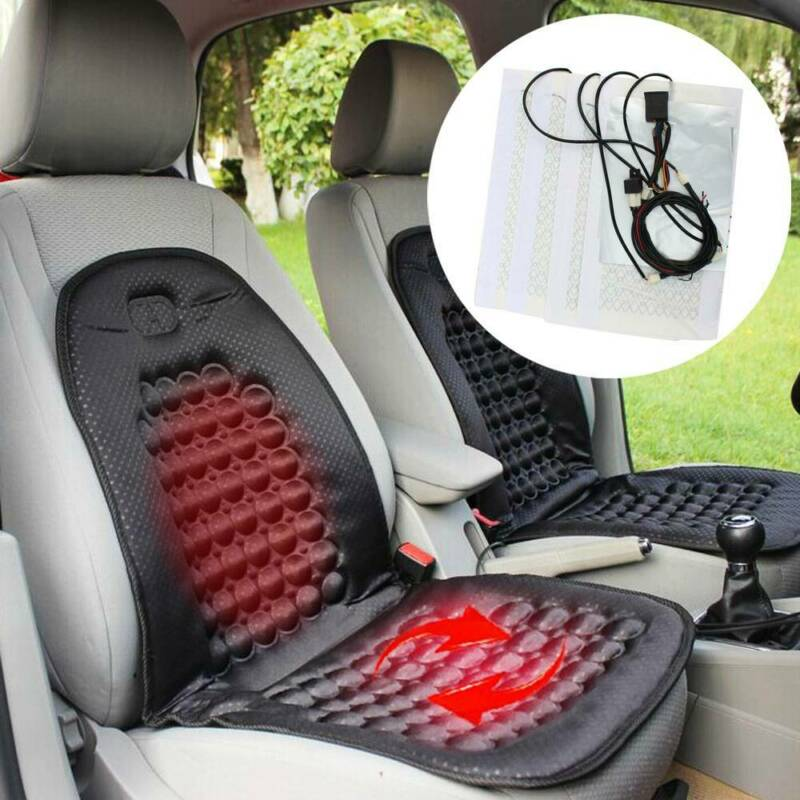 Heated Seat Cushion Heater for Truck WarmCare Seat Heater-Heated Seat Front Heated Cushion Quick Heated Universal with Temperature Controller Single seat Home and Office