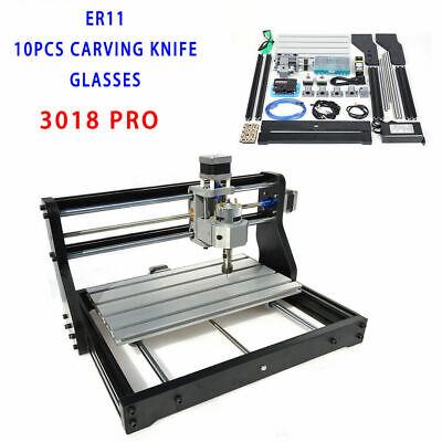 Desktop Cnc3018 Pro Mini Router Engraver Diy Laser Cnc Engraving Machine Er11 Us
