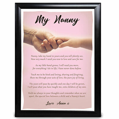 Best Personalised Gifts Poem Nan Nanny And Child Nana Mother s Day Birthday