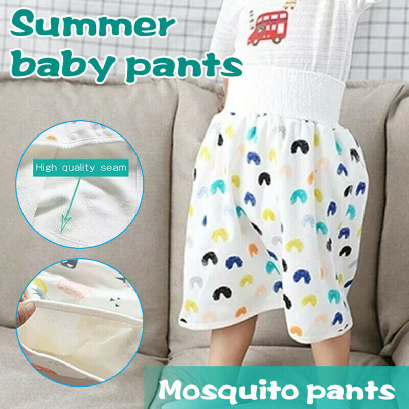 как выглядит Pants Anti Bed-wetting Cotton Bamboo Fiber Childrens Diaper Skirt Shorts фото