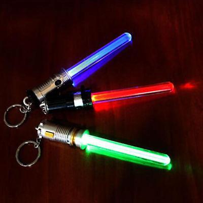 Star Keychain - Star Multi-color Alloy Saber Keychain Keyring Sword Led Light Lamp