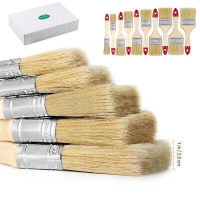 Pack of 10 Paint Brush Brushes Decorating Painting Fine Set Advanced Bristle ART