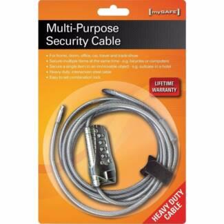 Mysafe Multi-Purpose Security Cable Combination Lock Padlock