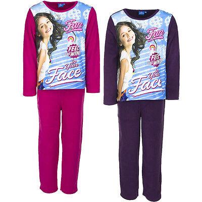 fanzug Mädchen Soy Luna Fleece Pink Lila 116 128 140 152#302 (Fleece Mädchen Schlafanzug)