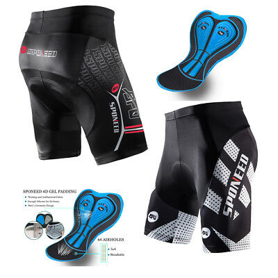 Mens Best Cycling Shorts Pad Bicycle Half Pants High Elastic Biking Tights