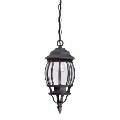 Hampton Bay 1-Light Black Outdoor Hanging Lantern ( HB7030-05 ) ()
