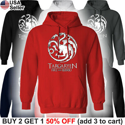 Game of Thrones Targaryen Hooded Sweatshirt Dragon Fire - Game Of Thrones Targaryen Hoodie