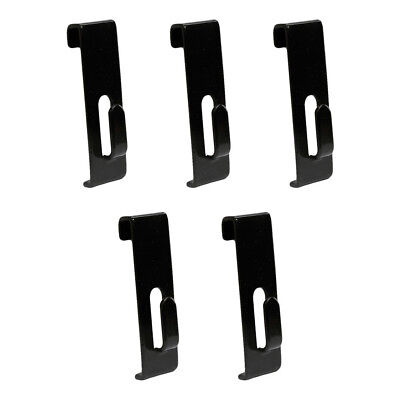5 Pieces Black Gridwall Utility Hook For Grid Panel Display - Picture Notch
