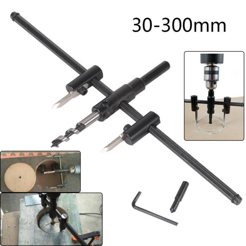 Einstellbare 30-300mm Metall Holz Kreisschneider Kit Loch Säge Bohrer Werkzeug
