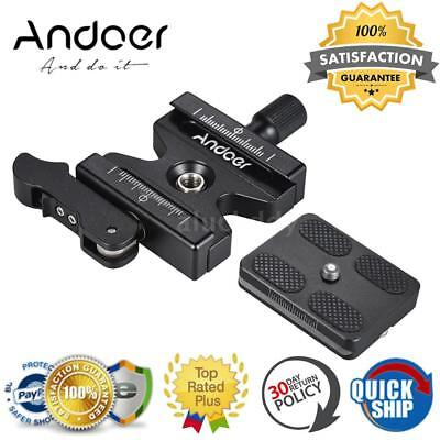 """Andoer Tripod Quick Release Clamp Plate QR Lever Knob Type 3/8"""" For Arca Swiss"""