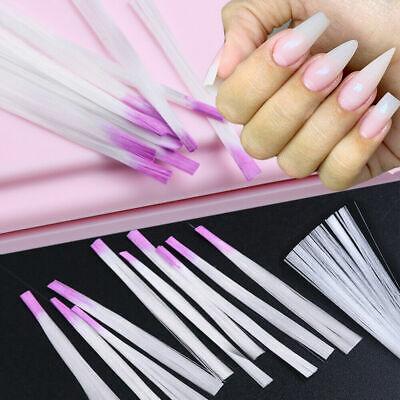 HOME Salon Nail Extension Kits Nail Form Fiberglass Fibernails Tips Manicure US for sale  USA