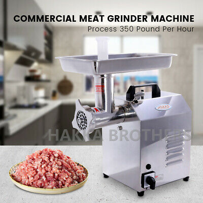 Hakka 350lbsh Commercial Electric Meat Grinder 550w Stainless Steel Meat Mincer