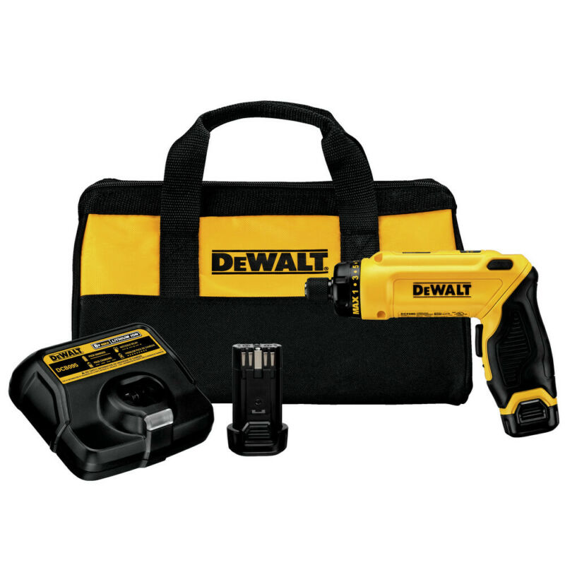 DEWALT 8V Li-Ion Gyroscopic Screwdriver Kit DCF680N2 New