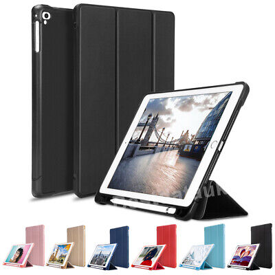 """Smart Case Leather Stand + Apple Pencil Holder Cover for iPad 6th Gen 2018 9.7"""""""