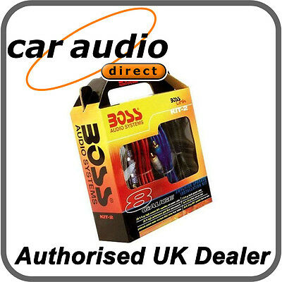 BOSS Audio 1200W Complete 8 GAUGE Car Amp Amplifier Cable Subwoofer Wiring Kit
