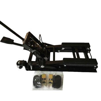 Motorcycle ATV Jack Lift 1500Lb Bike Stand Garage Repair Black New High Quality ()