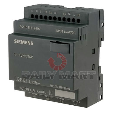 Siemens 6ed1052-2fb00-0ba6 Controller Logo 230rco Input Voltage 120230 V Acdc