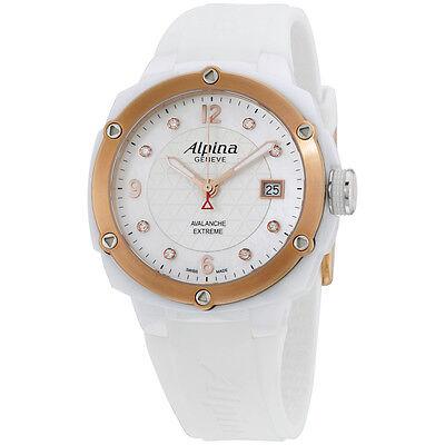 Alpina White Dial Silicone Strap Ladies Watch AL240MPWD3AEC4