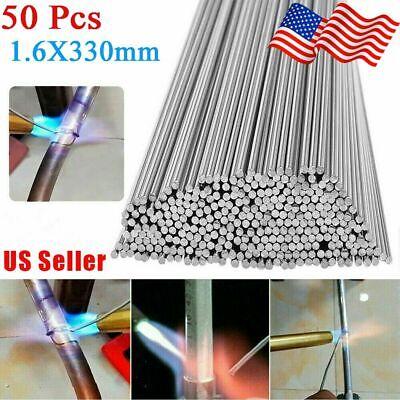 50pcs Aluminum Solution Welding Flux-cored Rods Wire Brazing Rod 1.6mm X 330mm