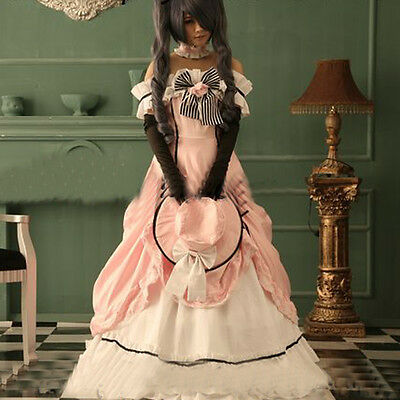 Black Butler Kuroshitsuji Ciel Damen Kleidung Party Kleid Cosplay Kostüm Dress