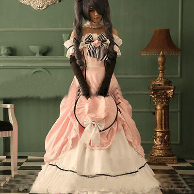 Black Butler Kuroshitsuji Ciel Damen Kleidung Kleid Cosplay Kostüme made Dress