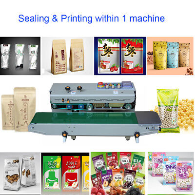 Continuous Sealing Machine Film Heat Hot Ink Print Plastic Bag Band Sealer