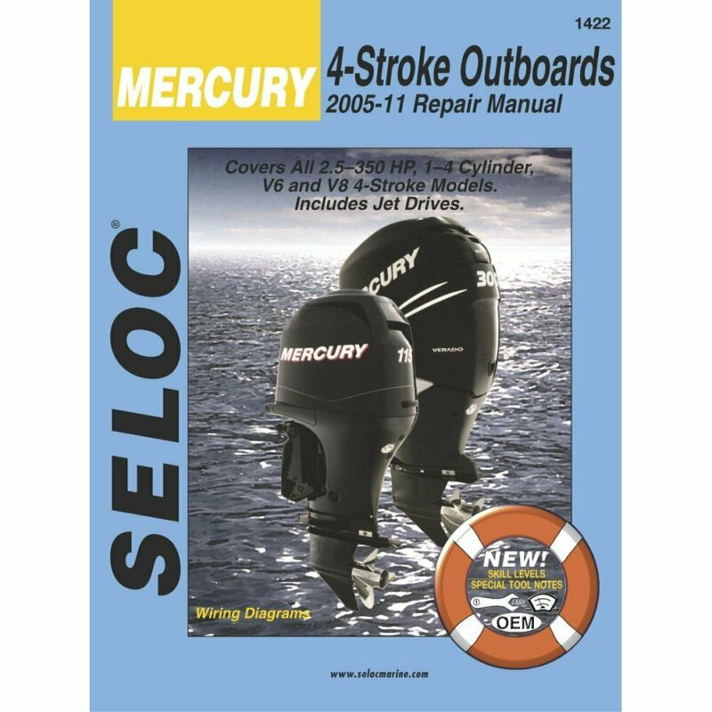 Yamaha, Mercury, Mariner Outboard, 2005 - 2011 Repair and Tune-Up Manual