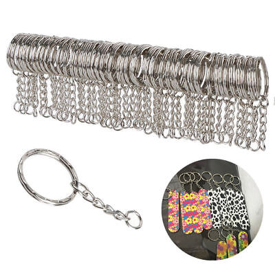 Wholesale 100 Pcs DIY Key Rings Key Chain With Link Chain Key Holder 25mm Lot