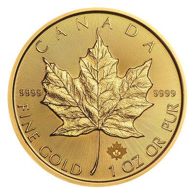 1 oz Gold Maple Leaf 2019 prägefrisch - 15 Euro Rabatt ab 3 Stück