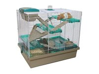 Grey and Green Hamster Cage!