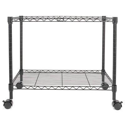 Single Tier Metal Rolling Mobile File Wide Cart Storageorganizer Office Supplies