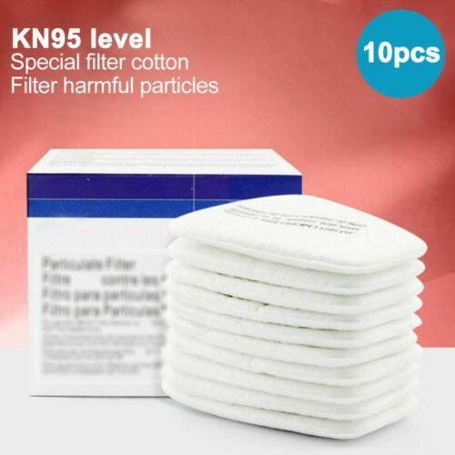 10PCS 5N11 Cotton Filter For 3 M 6100/6200/6800/7501/7502 Respirator