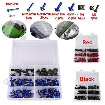 Colorful Sport Bikes Motorcycle Windscreen Fairing Bolts Kit Fastener Clip Screw