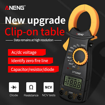 Digital Clamp Meter Tester Ac Dc Volt Amp Multimeter Auto Ranging Current Lcd