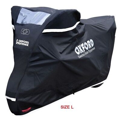 Oxford CV332 Stormex Outdoor Motorcycle Cover(L)Heavy Duty Motorbike Rain Cover