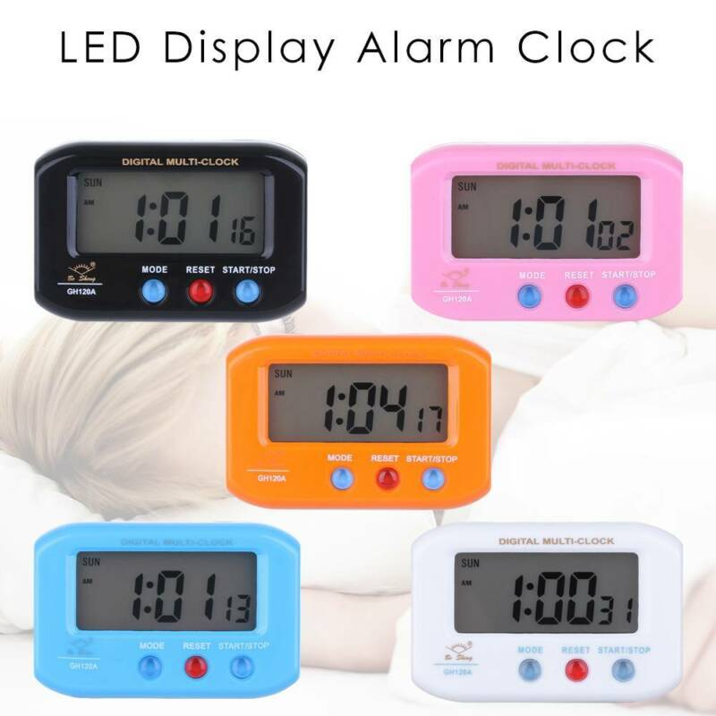 Mini Digital Backlight LED Display Alarmclock Snooze Office Table Clock Calendar