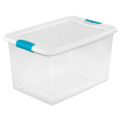 Sterilite 64 Quart Clear Plastic Storage Boxes Bins Totes w/ Latches (6 Pack)](Clear Storage Boxes)