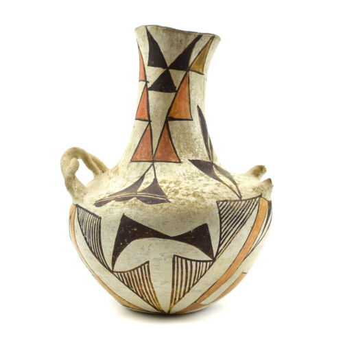 """Acoma Polychrome Vase, c. 1890s, 7.5"""" x 5.5"""" - SOLD AS IS"""