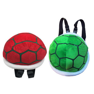 2pcs Super Mario Turtle Shell Plush Bagpack Koopa Troopa Stuffed Costume Bag - Koopa Troopa Costume