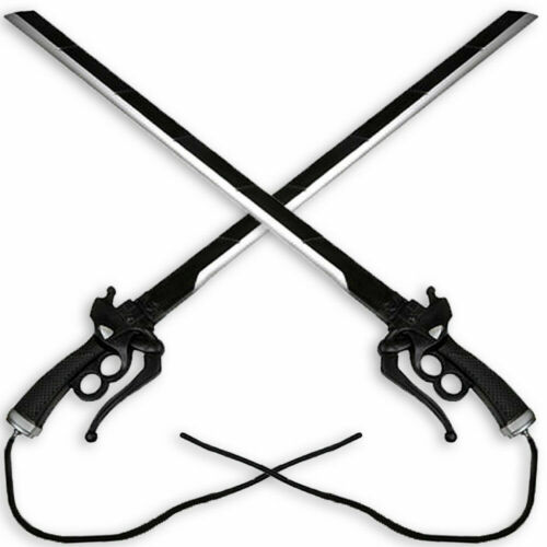 "2PC Combo Set 37"" Attack on Titan Shingeki Kyojin Fantasy Foam Sword Cosplay New"