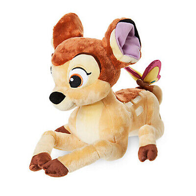 New Official Disney Bambi 27cm Bambi With Butterfly Soft Plush Toy
