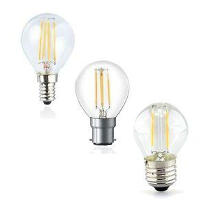 2 watt 4 watt e14 b22 e27 led filament golf ball traditional style led lamp ebay. Black Bedroom Furniture Sets. Home Design Ideas