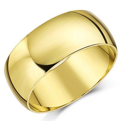 9 Karat Gelbgold Ring Leicht D Form Hochzeit Band 8mm Gold Herren Ring ()