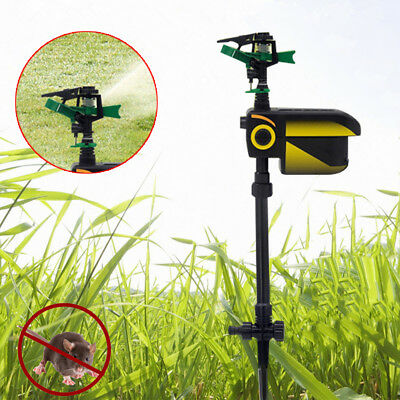 Keep cats & dogs away from your lawn! Solar Repellent Sprinkler, Sensor 30 Feet