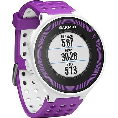 Garmin Forerunner 220 Gps Enabled Sport Running Waterproof Watch  Purple Violet