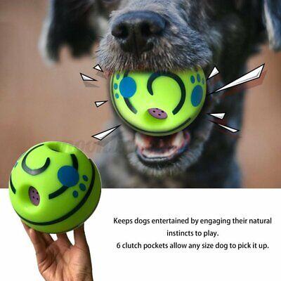 Pet UK Wag Wobble Ball Dog Play Training Pet Toys w/ Funny Sound Hot No Harm Dog
