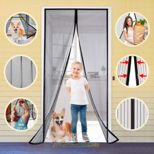 Magnetic Screen Door Retractable Mesh Net Pet Patio Hands Free Magic Automatic